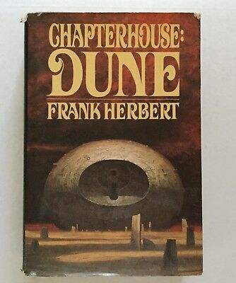 Chapterhouse: Dune, by Frank Herbert - 1985 - 1st Ed.,Hardcover Book Dustjacket