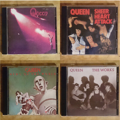 lot of 4 Queen Cds Sheer Heart Attack The Works News of The World
