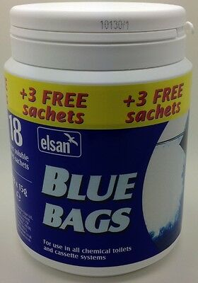 Elsan Blue Bags 21 Toilet Sachets For The Price Of 18 Caravan Motorhome Camping