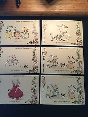 Lot of 6 Sunbonnet Pictures Postcards