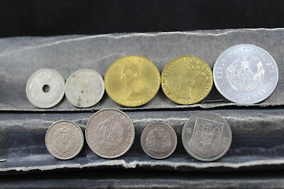 Romania 9 assorted coins   lot H 287