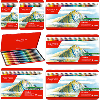 Caran d'Ache Pablo Colour Pencils Tins of 12 | 18 | 30 | 40 | 80 | 120 Available