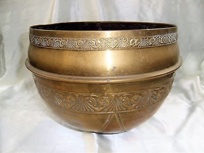 Ancien GRAND CACHE POT EN CUIVRE ART-DECO N° 3