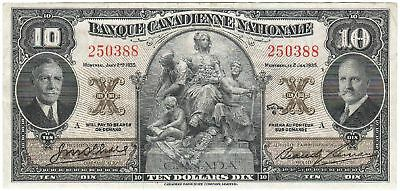 KANADA Banque Canadienne Nationale (Montreal) 10 Dollars 1935