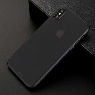 Ultra Thin Slim Hard 0.3mm Cover Case Skin Air Case for iPhone X iPhone 10 Black