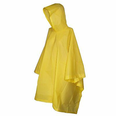 Hooded RainCoat Yellow Childrens Rain Poncho Kids Rain Coat Small Size 8.5x6x1