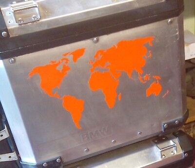 2 x r1200gs adventure world map pannier stickers decals graphics 2 x orange world map stickers decals graphics adventure ktm gsa gs adventure gumiabroncs Image collections