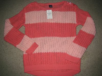 Nwt Baby Gap Girls Colorpop Color Pop Striped Sweater Shirt Size 5