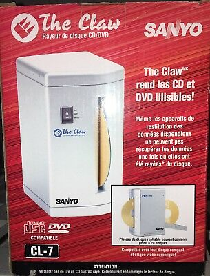NIB Sanyo The Claw CD/DVD Media Destroyer for Business Personal data