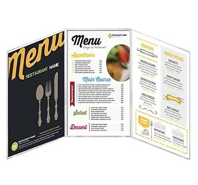 """MenuCoverMan • Case of 24 Menu Covers • 8.5"""" Wide x 11"""" Tall •  6 VIEW"""