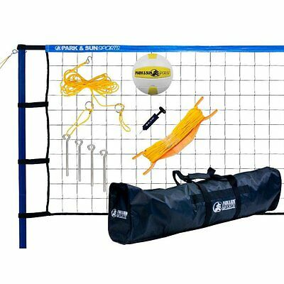 Park & Sun Spiker Sport Steel Volleyball Set, Blue