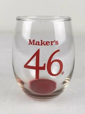 Maker's Mark 46 Bourbon Rocks Glass w Red Tinted Base Keeneland Mile Stakes Race