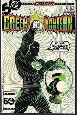 Green Lantern #195 Dc 12/85 Guy Gardner Becomes Green Lantern Crisis X-Over Nm
