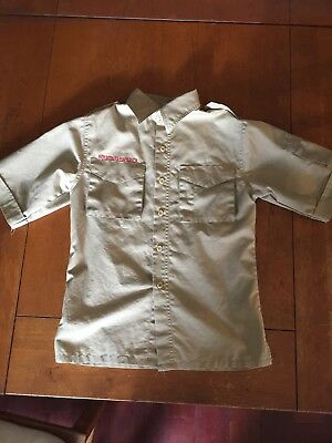 Boy Scouts Youth Medium Short Sleeve Shirt Great Condition