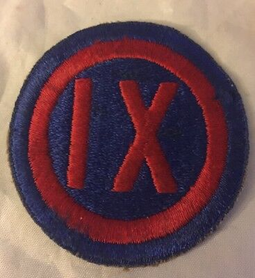 WWII US Army IX Corps Shoulder Patch - Nice!