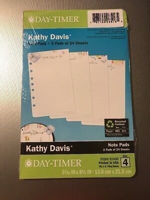 2 Pack Of Day-Timer Kathy Davis Size 4 Note Pads