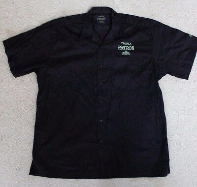 Patron Tequila Short Sleeve Button Up Cotton Shirt Mens Size XL NEW in PKG
