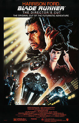 Blade Runner (1982) Original Movie Poster R-1992  Director's Cut Rolled 2-Sided