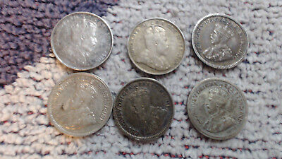Canada     6  Mixed  Silver  5    Cents.....#111.....99  Cent  Start..no Reserve