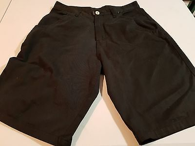 Mens Wedge Boarding Co Black Shorts, Size 34