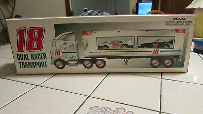 Hess Truck JOE GIBBS RACING #18 Dual Racer Transport MIB RARE