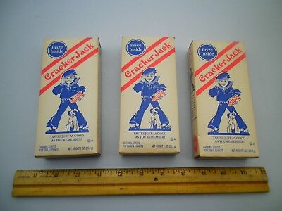 Lot Of 3 Cracker Jack Boxes 2004 Collector Vintage Style Box Opened Than Sealed