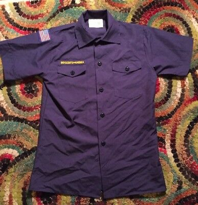 Official Boy Scout Cub Scout Shirt, Size Youth Large Excellent Used Condition