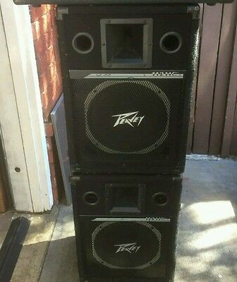 Pair of Peavey 12in 112HC Series2 passive speakers Excellent sound