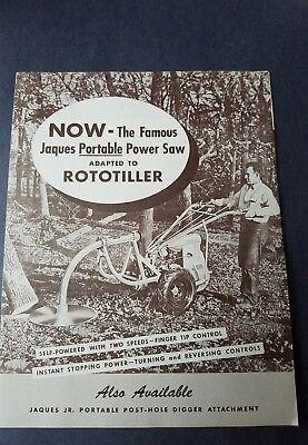 Jaques Rototiller advertising brochure. Graham Paige. Lawn tractor advertising