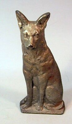 Neat Antique Cast Iron Metal Dog--German Shepherd?--Door Stop?
