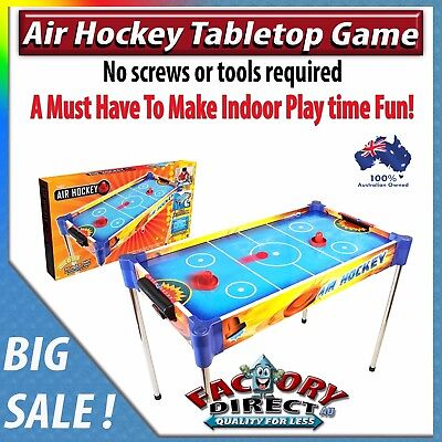 NEW! Air Hockey Tabletop Game Family Kids Friends Indoor Fun Compact Storage!
