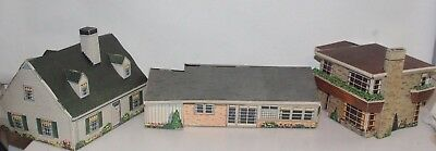 1947 Kellogg's Premium Paper Houses Fig 7, 8,9 Complete Excellent Graphics Large