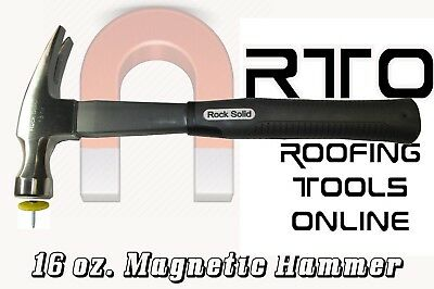New Rock Solid 16 oz Magnetic Roofing Hammer Heavy Duty Magnet martillo magnétic