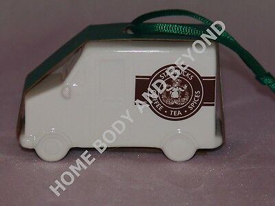 STARBUCKS Collectible Ceramic Holiday Christmas Delivery Truck Van Ornament