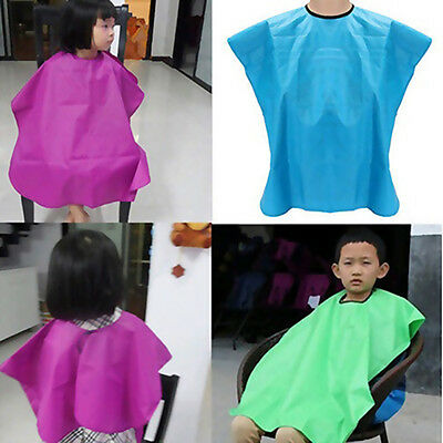 FX- Kids Salon Waterproof Hair Cut Hairdressing Barbers Cape Gown Wai Cloth Supe