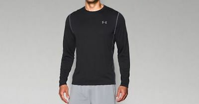Under Armour Men's Black Loose Fit Heat Gear Long Sleeve Shirt Size Large NWT