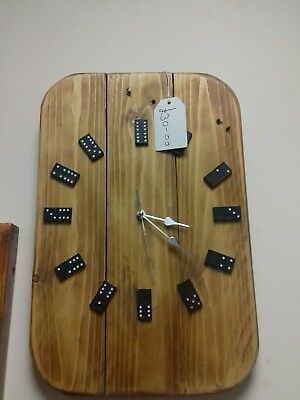 Pallet wood domino clock upcycled