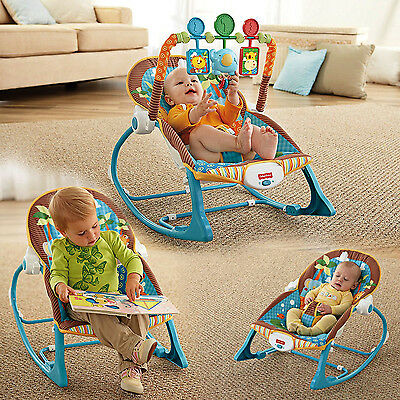 NEW Infant to Toddler Rocker Bouncer Seat Baby Chair Sleeper Swing Toy Portable