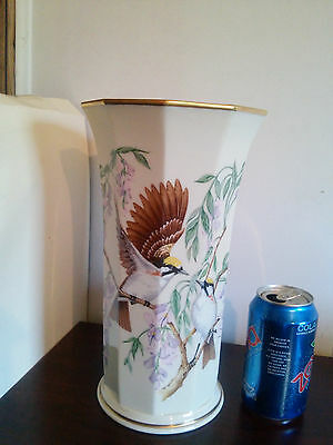 lenox jefferson fine ivory china  presidential garden vase collection signed
