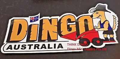 Decal/sticker Dingo Australia 300Mm Long Dingo On A Mini Digger Retro Style Logo
