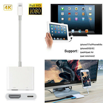 8 Pin Lightning to Digital AV Adapter HDMI Cable For iPhone 7 6 6S iPad Air 2