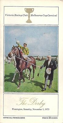 VRC DERBY RACE BOOK 1973 - Dayana on cover