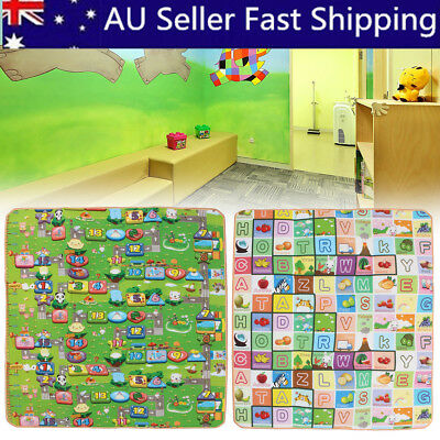 2mx1.8m 20mm Thick XL Large Baby Kids Toddler Play Mat Floor Rug Double Sides AB