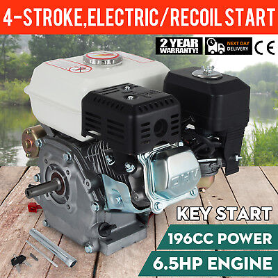 6.5HP Petrol Engine Motor Horizontal Shaft Electric Chippers Stationary 3600rpm