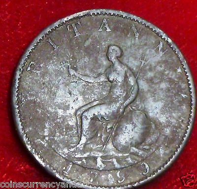 1799 UK (Great Britain)  Half Penny  Coin