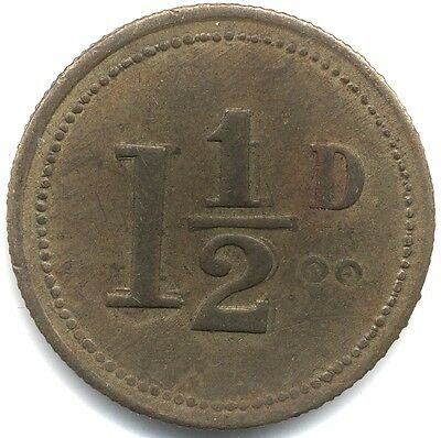 W.G.Marshall 1 1/2 D Token***Collectors***Scarce***Doubling***