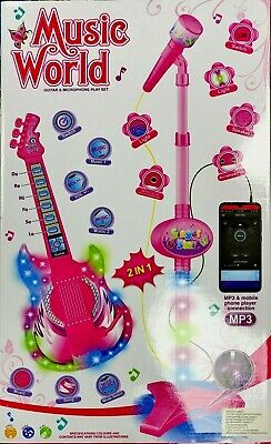 KIDS CHILDREN'S DISNEY PRINCESS DELUXE ELECTRIC GUITAR MUSICAL play set gift UK