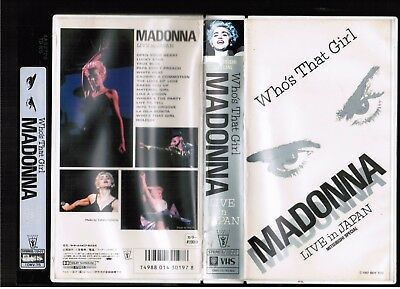 MADONNA Who's That Girl:Live In Japan JAPAN NTSC VHS VIDEO 10WV-75 1987 issue