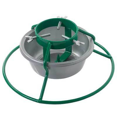 """Water Holding Christmas Tree Stand Euro Bowl 4"""" for 5ft (1.5m) Real Xmas Trees"""