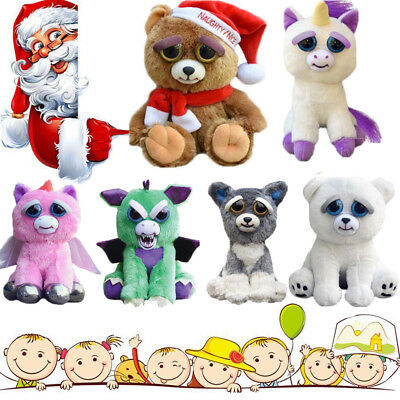 Neu Feisty Plüsch Tiere Pets Expression Stuffed Scary Face Toy Animal Weinachten